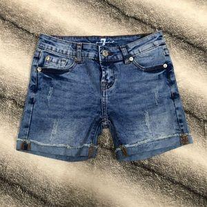 7 for all mankind denim girls shorts